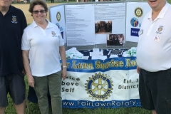 Rotary table at Fair Lawn National Night Out